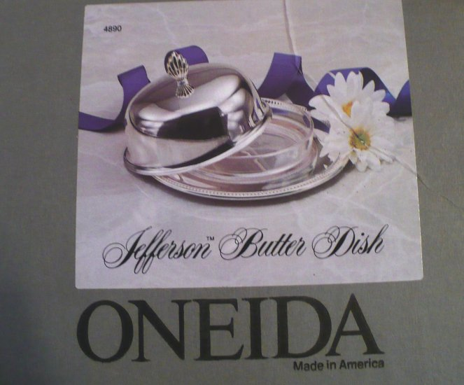 Oneida Jefferson Butter Dish - 3 pc.