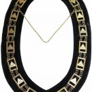 Masonic regalia 33rd degree Scottish rite chain collar black backing