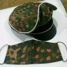 "WW2 GERMAN ""ELITE""INFANTRIE, DOT 44 CAMO ""CRUSHER"" CAP (REPLICA) WITH FACE MASK"