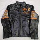 Harley Davidson Screaming Eagle Biker Motorbike Real Cowhide Leather Jacket Men