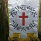 MEDIEVAL CRUSADER KNIGHTS TEMPLAR MASONIC HOLY LAND WAR BATTLE LODGE BANNER FLAG