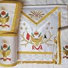 Masonic Regalia 33rd Degree A.A.S.R Set Apron,Collar & Gauntlets Wing UP