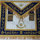 Masonic Apron-Embroidered Past Master Apron Royal Blue (Blue & Gold )
