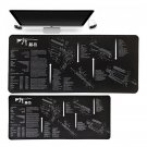 AR15 Rifle Manual Mouse Pad 70x30cm XL Size Computer Desk Mat for Mouse & Keyboard