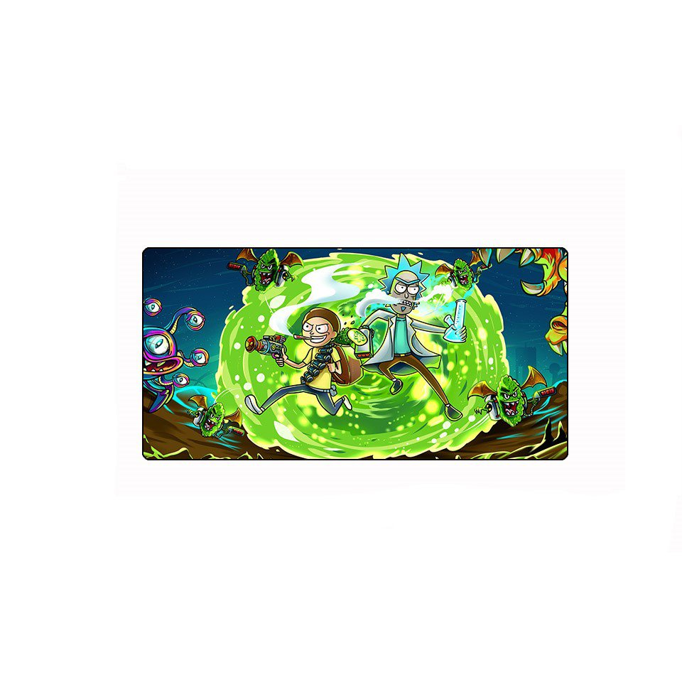 Rick and Morty Monster Hunt Mouse Pad 600x300mm Size Desk Mat Gaming Mousepad