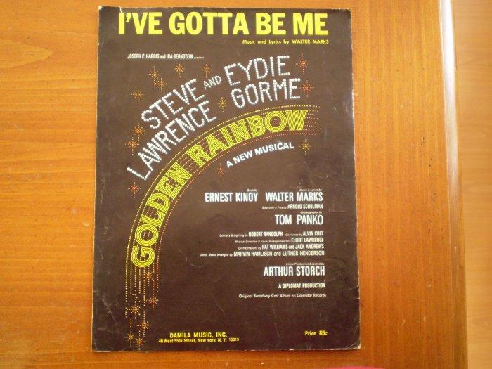 I'VE GOTTA BE ME PIANO SHEET MUSIC WALTER MARKS 1967
