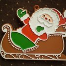 VINTAGE HALLMARK COOKIE CUTTER SANTA ON SLEIGH PAINTED CHRISTMAS