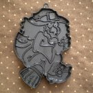 VINTAGE HALLMARK COOKIE CUTTER WITCH HALLOWEEN BLACK