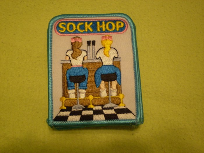 Lot 8 Girl Scout Sock Hop Patch GSA NEW