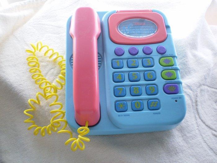 DISNEY LITTLE MERMAID Super Talking Phone VINTAGE Ariel