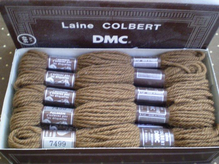 LOT 10 SKEINS DMC TAPESTRY WOOL YARN  LAINE COLBERT DOLLFUS MIEG 7499
