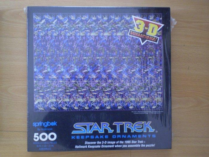 SPRINGBOK 3D 3-D STAR TREK KEEPSAKE ORNAMENTS JIGSAW PUZZLE NEW 500pc