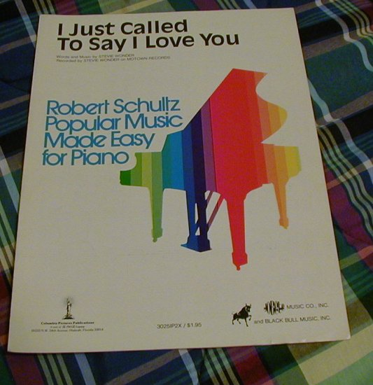 I Just Called To Say I Love You Sheet Music Stevie Wonder