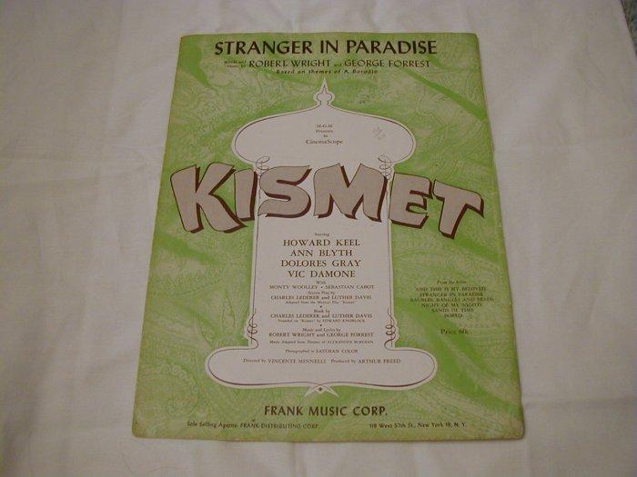 Stranger In Paradise Kismet Sheet Music 1953 Frank Music Corp