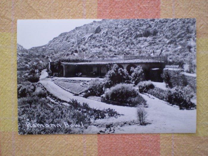 Vintage Postcard RAMONA BOWL rppc CALIFORNIA pathway