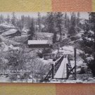 VINTAGE POSTCARD BRIDGE BATH HOUSES MONO HOT SPRINGS CA PARKER STUDIO #1831 RPPC