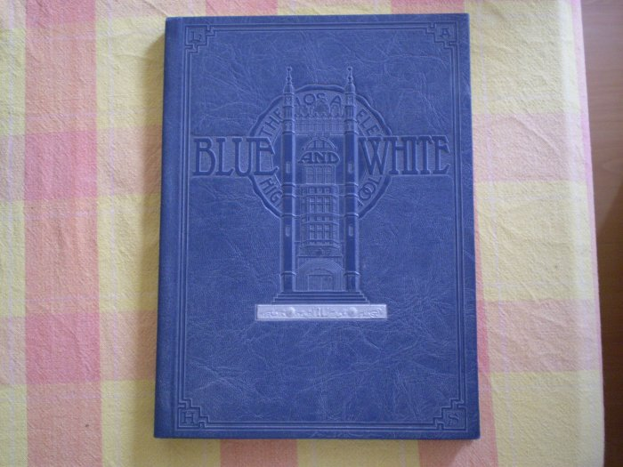 BLUE AND WHITE SEMI ANNUAL YEARBOOK WINTER CLASS 1928 LOS ANGELES HIGH SCHOOL