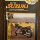 CLYMER SUZUKI GS850 FOURS 1979-1980 SERVICE REPAIR MAINTENANCE BOOK