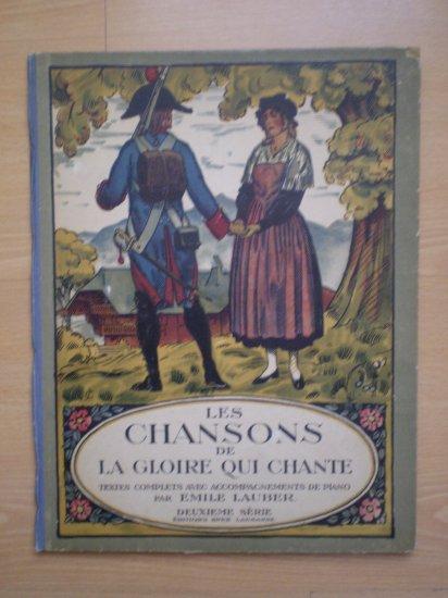 LES CHANSONS DE LA GLOIRE QUI CHANTE EMILE LAUBER SPES BOOK PIANO SHEET MUSIC BK