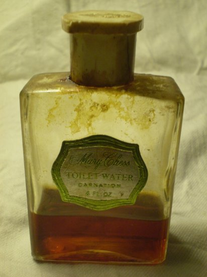 VINTAGE MARY CHESS CARNATION  TOILET WATER 4 fl oz perfume bottle