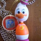 VINTAGE DISNEYLAND FEMALE DUCK NECKLACE WOOD DISNEY