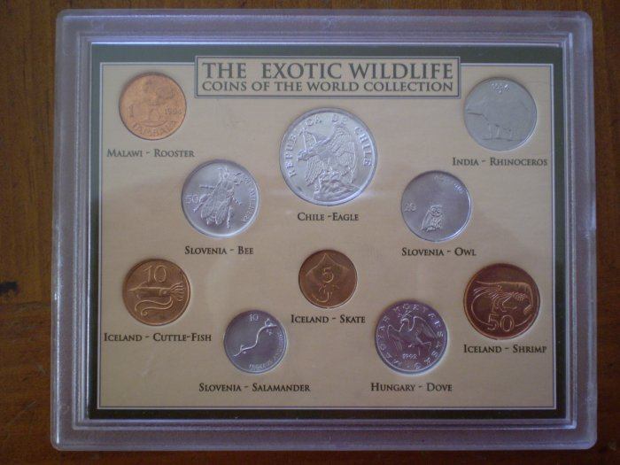 EXOTIC WILDLIFE COINS OF THE WORLD COLLECTION AHS #1505