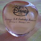 Disney Store 1993 Leadership Retreat Acrylic Apple Award Disneyland