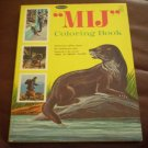 MIJ Coloring Book Bob Jenney Whitman #1145 1969 Otter Ring of Bright Water