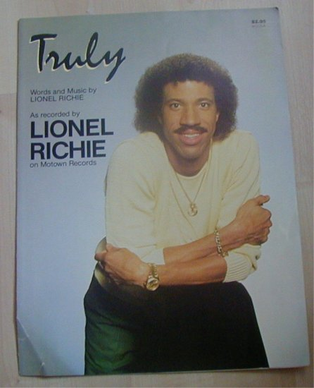 Truly Lionel Richie Sheet Music 1982 Brockman Music