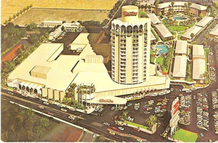 Sands Hotel Las Vegas Postcard Casino Nevada vintage