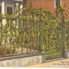 Corn Fence, 915 Royal St, New Orleans, LA postcard vintage