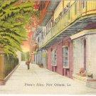 Pirate's Alley, New Orleans, LA postcard vintage