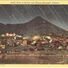 Night View of Jerome and Mingus Mountain Arizona postcard vintage