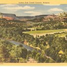 Lower Oak Creek Canyon Arizona postcard  vintage