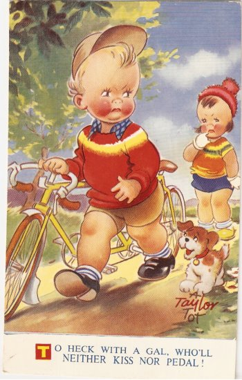 Bamforth Taylor Tots K217 Heck with Gal postcard