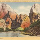 Cable Mountain Great Organ Throne Zion Utah postcard vintage