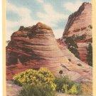 East Entrance Zion National Park Utah postcard vintage