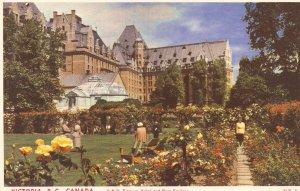 Victoria B.C. Empress Hotel Rose Gardens postcard