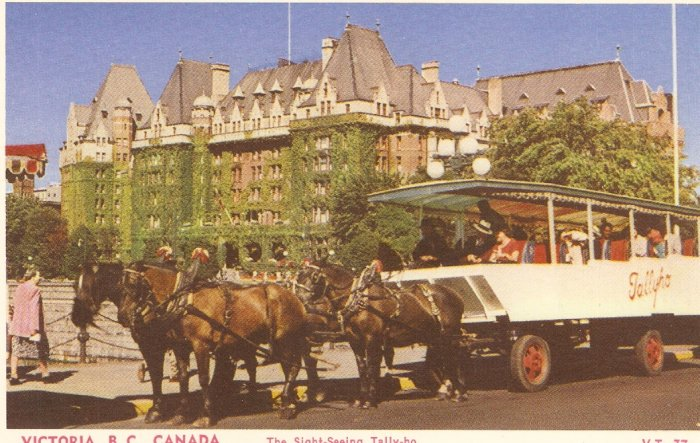 Victoria B.C. Sight-Seeing Tally-ho postcard