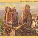 Sentinels Bryce National Park Utah vintage postcard