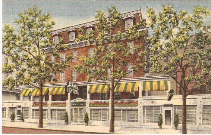 Hotel Park Central Atlantic City NJ postcard