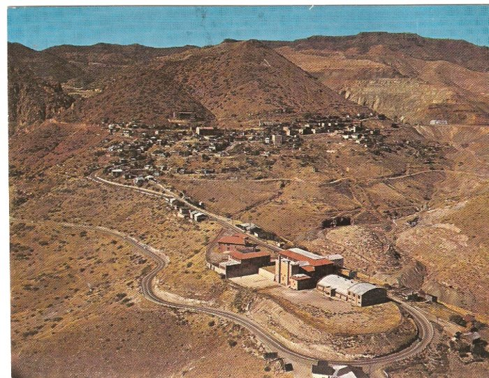 Jerome Arizona aerial view postcard 1967 largest ghost city