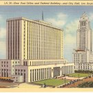 New Post Office Federal Building City Hall Los Angeles California postcard