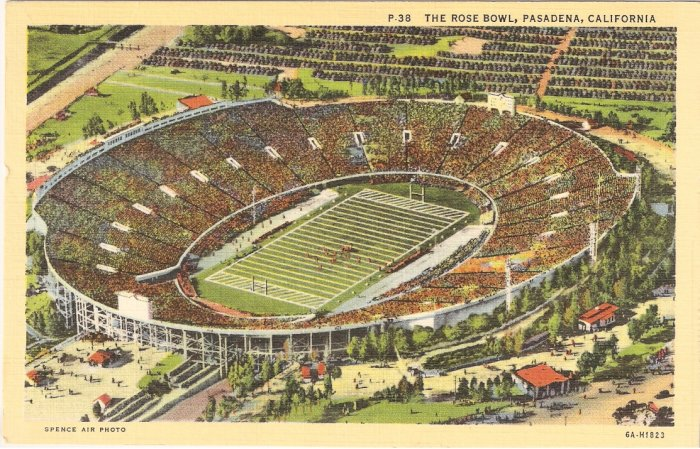 Rose Bowl Pasadena California postcard vintage
