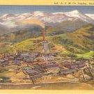 Smelter Anaconda Montana vintage postcard Big Stack ACM Co