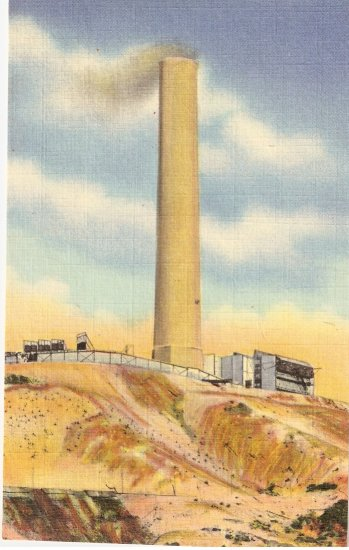 Highest Smokestack Anaconda Mining Co Montana vintage postcard ACM