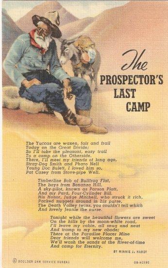 Prospector Last Camp Kaumeyer vintage postcard