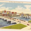 Des Moines River Iowa vintage postcard Art Tone Glo Var Finished