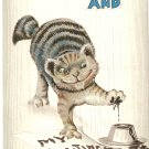 Christmas naughty cat vintage postcard 1911