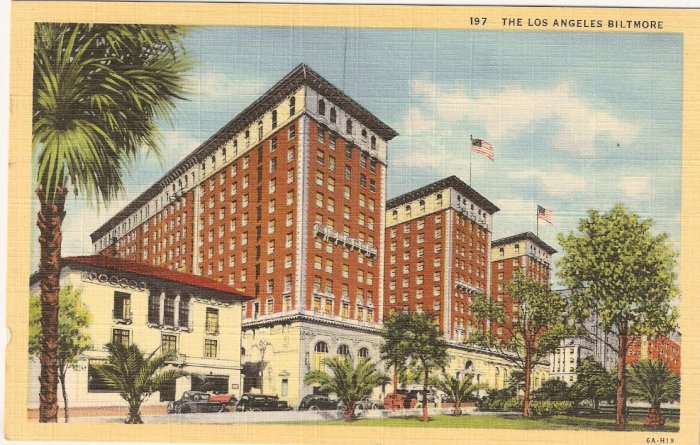 Los Angeles Biltmore California postcard vintage